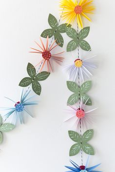 diy | paper flower garland #make #craft #kids #party #wedding #luau