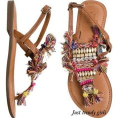 tribal summer sandals Amazing flat summer sandals http://www.justtrendygirls.com/amazing-flat-summer-sandals/