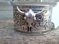 Western Longhorn Cuff Bracelet