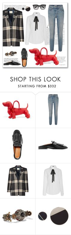 """For Dog Lovers"" by angelicallxx ❤ liked on Polyvore featuring Thom Browne, GRLFRND, Robert Clergerie, By Malene Birger, Mi Jong Lee, Alexander McQueen, Lanvin and statementbags"