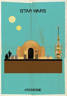 If It's Hip, It's Here: ARCHICINE: Famous Movie Architecture As Modernist Illustrations. #howard