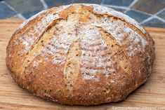 A Messy Kitchen: Golden Flax and Spelt Sourdough Loaf Spelt Flour, Rice Flour, Spelt Sourdough Bread, Oatmeal Bread, Messy Kitchen, Baking Stone, Meals For One, Recipes, Food