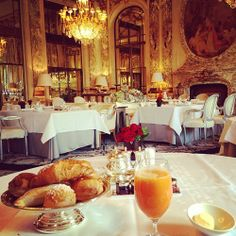 Breakfast at the Ritz hotel, the good jetset life http://jetsetbabe.com/