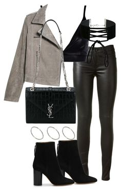"""Untitled #2976"" by theeuropeancloset on Polyvore featuring Yves Saint Laurent, Boohoo, MANGO, Isabel Marant, ASOS and Miss Selfridge"