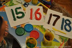 Free Playdough Mats (Numbers and Letters) from The Pinay Homeschooler
