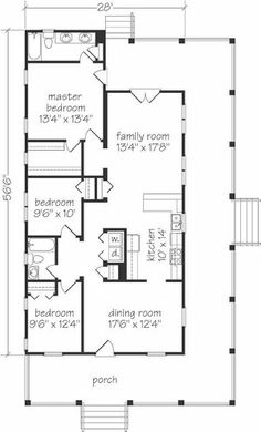 Colonial Country Traditional House Plan 59952 | Ranch floor plans ...