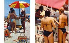 Aí tá demais... os dois juntos!! Praia de Ipanema - década de 1970. Fotos da Manchete, mostrando a carrocinha da Kibon e a do cachorro-quente da Geneal. Drama, Back In Time, Great Memories, My Childhood, Good Times, Brazil, Places To Visit, Culture, Seasons