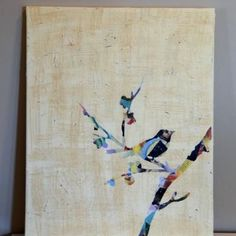 Make a Mod Podge Silhouette Canvas {Canvas Painting}