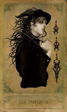 The Emperor - Sepia Stains Tarot « Bajemas Web. Model: Myke Amend