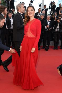 Virginie Ledoyen en robe Georges Hobeika haute couture automne-hiver 2015-2016