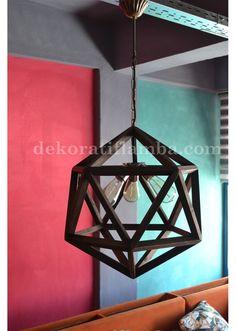 ICOSAHEDRON WOODEN LAMP