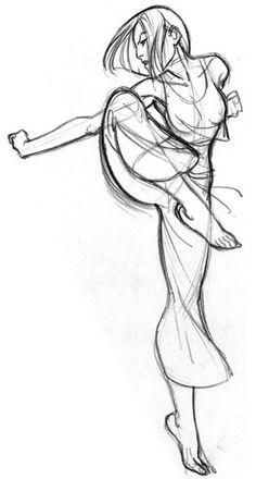 @大潘采集到绘画——人体结构及动态(344图)_花瓣插画