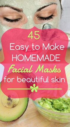 45 Easy-to-Make DIY Homemade Face Masks to Try #homemadefacemasksglow