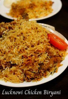 lucknowi biryani recipe, lucknowi chicken biryani....