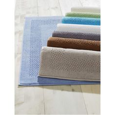 """Mei Tal Bath Mat Set of 2 These are really great bath mats; 20x30"""" -- 950 gsm, step on them and feel the softness.  These sets are not one or two washing products. All are produced in Turkey with the fine quality long stable Turkish yarn. This design fits into every bathroom and always looks new."""