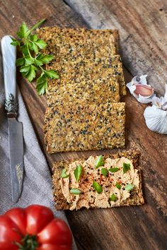 Gluten Free Bakery, Gluten Free Recipes, Vegan Gluten Free, Vegan Vegetarian, Vegetarian Recipes, Real Food Recipes, Diet Recipes, Healthy Recipes, Crack Crackers