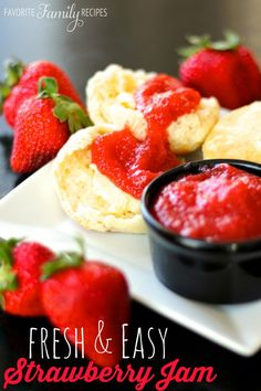 Fresh and Easy Strawberry Jam - tastes great on Easter breads!