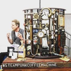Professor Harris' Steampunk Coffee Machine voted Most Innovative Product at this…