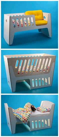 "grow with baby furniture   ""The Rocky"" rockable crib - proper baby crib, toddler bed....hmmmm"