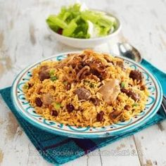 Arabic Food Recipes: Chicken Kabsa with Sausage & Beans Recipe