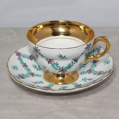Rosina Tea Cup and Saucer, Bone China Made in England, Pattern #4909/R, No Box