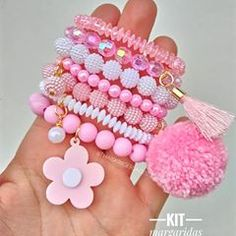 15 Styles of Matching Couple Bracelets That Charming Your Hands Little Girl Jewelry, Kids Jewelry, Jewelry Making, Kids Bracelets, Handmade Bracelets, Handmade Jewelry, Diy Hair Accessories, Handmade Accessories, Matching Couple Bracelets