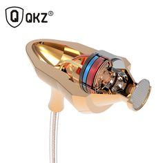 Earphone QKZ DM5 Stereo BASS Metal in-Ear Earphone Noise Cancelling Headsets DJ In Ear Earphones HiFi Ear Phone Metallic Earbuds