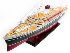 Wood Ship Model SS Andrea Doria