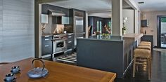 A perfect integration, the kitchen flows seamlessly with the living and dining room