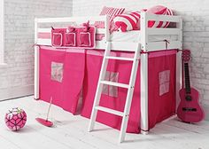 Shorty Cabin Bed with PINK Tent ,Midsleeper Ontario in WH…