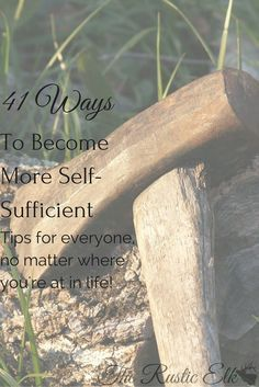 Wanting to become more self-sufficient? Want to grow your own and homestead? Here are 41 ways to become more self sufficient and you don't have to live on a farm to do most of them!!