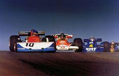 Ronnie Peterson su March-Ford 761, James Hunt su McLaren-Ford M23, Patrick Depailler su Tyrrell-Ford P34 e Mario Andretti  su Lotus-Ford 77  1976 Canadian GP, Mosport Park