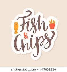 Fish and Chips. Fish And Chips, Concept, Lettering, Food, Fish Fry, Essen, Drawing Letters, Meals, Yemek
