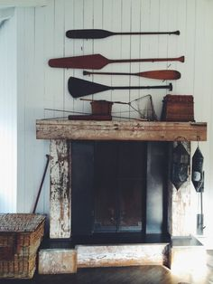 Antique Bellow Fireplace Tools Nautical Clipper by OceansideCastle ...