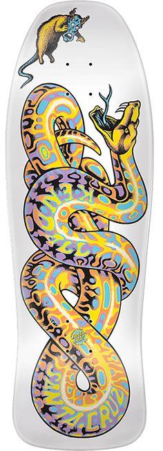 Santa Cruz x Kendall Snake ReIssue Skateboard Deck Skateboard Design, Skateboard Decks, History Of Skateboarding, Skate Tattoo, Grey Ink Tattoos, Skate Art, Cool Skateboards, Skate Decks, Building A Deck