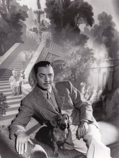 William Powell and an equally dapper dachshund friend by Clarence Sinclair Bull Vintage Photo B Golden Age Of Hollywood, Classic Hollywood, Old Hollywood, Hollywood Stars, Hollywood Pictures, Thin Man Movies, Old Movies, Vintage Movies, Vintage Dachshund