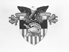 The United States Military Academy Crest. Keeping Freedom Alive - 2005; No Mission Too Great - 2008. Hoooah.