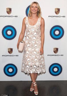 Professional tennis player Maria Sharapova - 2014 Fashion Targets Breast Cancer - flawless in a beautiful Marc Jacobs dress