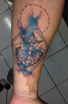 Geometric Anchor by Maxwell Alves @ El Cuervo Ink - Curitiba, Brazil