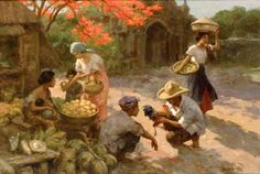 """A few of the paintings of Fernando Amorsolo y Cueto the """"Grand Old Man of Philippine Art"""" is believed to have created over work of art. Dog Shark Costume, Lifeguard Halloween Costume, Clever Halloween Costumes, Filipino Art, Filipino Culture, Dark Knight Joker Costume, Skye Paw Patrol Costume, Fisherman Costume, Munier"""