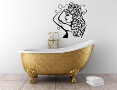 Woman Bathing  Shampoo Bathroom Beauty Hair Spa Salon