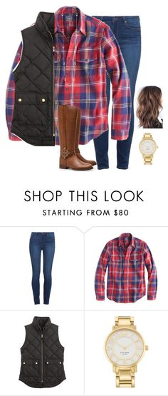 """""""for me to live is Christ"""" by madelynprice ❤ liked on Polyvore featuring Paige Denim, J.Crew, Tory Burch, Kate Spade and Kendra Scott"""