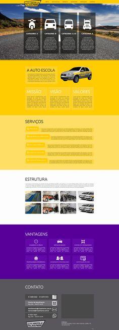 Desenvolvimento de modelo layout para Auto Escola.
