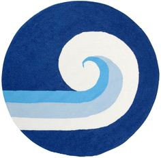Modernrugs.com com has very cool rugs especially for a kid's room. Check out this rug: Tidal Wave Modern Kids Rug.