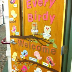 preschool classroom ideas pinterest | First classroom door! | preschool ideas