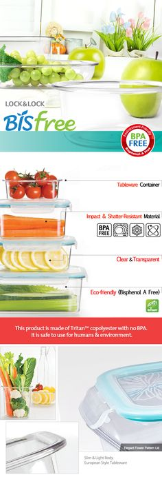 Bisfree Food Containers from Lock & Lock ! (1/2)