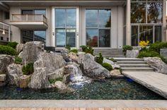 Soak in these beautiful backyards that make a splash.