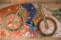 Bike Mural - saw this and thought of my friend, Tee!