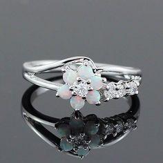 Opal Flower Ring