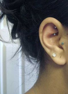 Rook piercing via Tumblr.